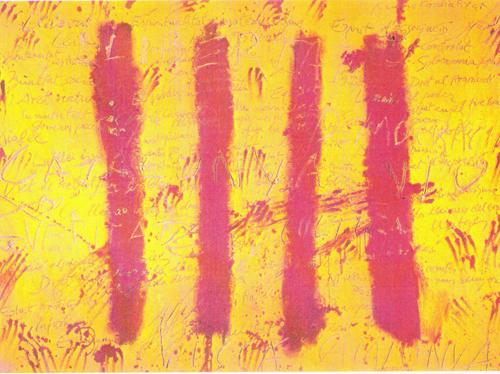 1971 tapies l esprit catalan galerie du coll ge faubert for Artiste peintre catalan
